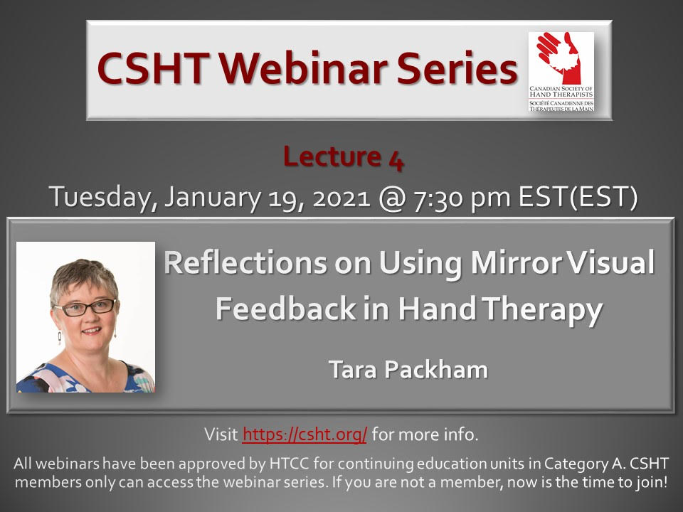 Reflections on Using Mirror Visual Feedback in Hand Therapy